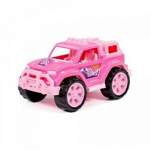 """Автомобиль """"Легионер"""" цв. розовый, сетка 21,2*15,3*14,1 см"""