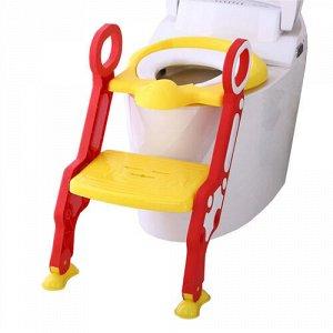 Сиденье для унитаза с лесенкой и ручками  цв.желтый  тм.PITUSO