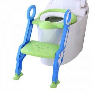 Сиденье для унитаза с лесенкой и ручками  цв.зеленый  тм.PITUSO