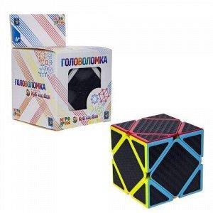 """Головоломка """"Куб карбон"""" квадраты,кор.6*6*9 см   тм.1TOY"""