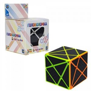 "Головоломка ""Куб карбон"" треугольники,кор.6*6*9 см   тм.1TOY"