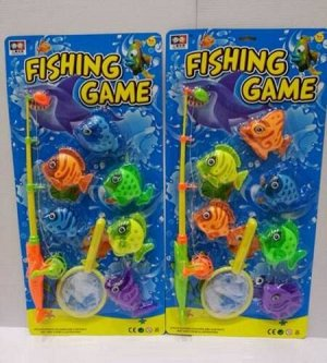 """Игра Рыбалка """"Веселый рыбак-12"""" (5 рыбок,удочка,сачок), блист.53*25,5*5 см"""