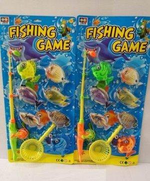 """Игра Рыбалка """"Веселый рыбак-13"""" (6 рыбок,удочка,сачок), блист.53*25.5*5 cм"""