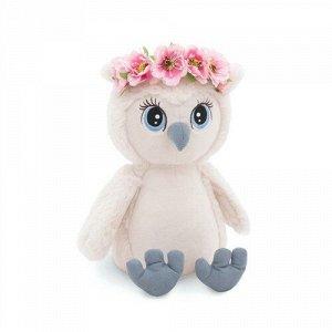 Игрушка мягкая Сова Лиза Нежный цветок,20 см