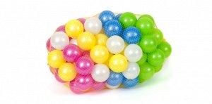 Набор шаров для сухого бассейна, 7 см, перламутр, 96 шт.,26*26*26 см