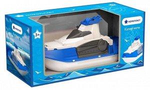Катер-амфибия (Яхта) 43см  ( в инд.коробке) тм Нордпласт