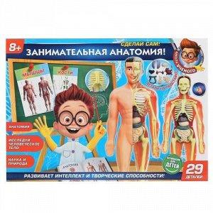 """Игрушка Опыты """"Школа ученого"""" Тело человек 3-D пазл, кор 5*39,5*28 см"""