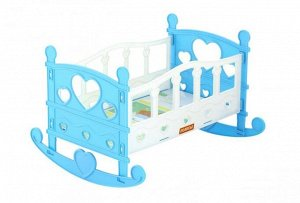 Кроватка-качалка для кукол №2 (7 эл.),пак. 28 см