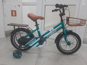 """Велосипед 14"""" (на рост 104-110 см. ), цв. зеленый  14-01 (2021)"""