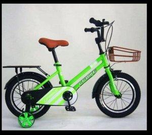 """Велосипед 14"""" (на рост 104-110 см. ), цв. салатовый  14-01 (2021)"""