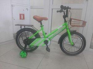 """Велосипед 16"""" (на рост 110-116см.) цв. салатовый арт. 16-01 (2021)"""