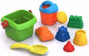 Набор для песка №136 (ведерко,совочек,формочки,лейка) тм Нордпласт