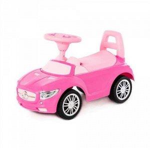 """Каталка-автомобиль """"SuperCar"""" №1 со звуковым сигналом, цв. розовый ,66,5*28,5*38,5 см   тм Полесье"""