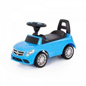 """Каталка-автомобиль """"SuperCar"""" №3 со звуковым сигналом, цв. голубой,66,5*28,5*38,5 см  тм Полесье"""