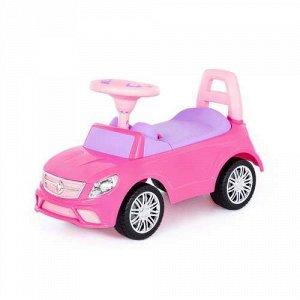 """Каталка-автомобиль """"SuperCar"""" №3 со звуковым сигналом, цв. розовый,66,5*28,5*38,5 см тм Полесье"""