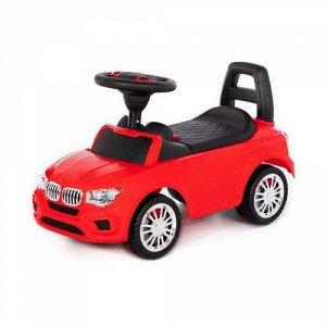 """Каталка-автомобиль """"SuperCar"""" №5 со звуковым сигналом, цв. красный 66*28,5*38 см  тм Полесье"""
