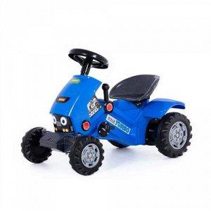 """Каталка-трактор с педалями """"Turbo-2"""" цв. синий  78*44*54 см   тм Полесье"""