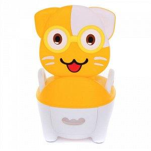 Горшок детский Котик в очках,32*27*39 см. цв. желтый  тм.PITUSO