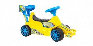 Машина-каталка  Супер Спорт цв.лимон ,67*27*37 см