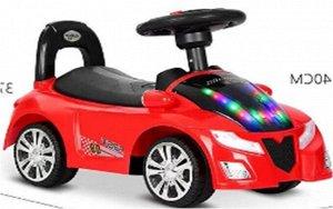 """Машина-каталка """"Гонка"""" (толокар), свет, звук, цв. в ассорт. 54*24*40см"""