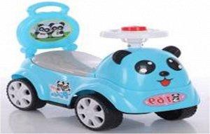 """Машина-каталка """"Панды"""" (толокар), свет, звук, цв. в ассорт. 57*28*47см"""