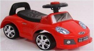 Машина-каталка (толокар), свет, звук, цв. в ассорт. 65*28*35см