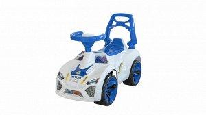 Машина-каталка Ламбо Полиция муз. руль цв. белый ,70*28*45 см