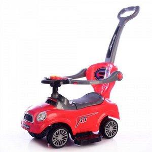 Машина-каталка с толкателем (толокар), свет, звук, цв. в ассорт., 68*29*85см