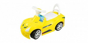 Машина-каталка СпортКар  цв.лимон ,69*27*38 см