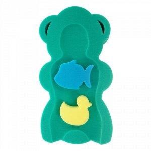 Матрас для ванны MAXI +2 губки, цв. зеленый 55*30*7 см