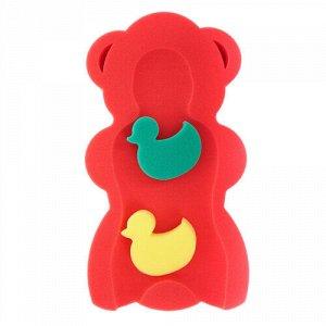Матрас для ванны MAXI +2 губки, цв. красный 55*30*7 см