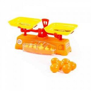 """Набор """"Весы"""" Чебурашка и крокодил Гена +6 апельсинов , сетка 27,6*13*12,7 см"""