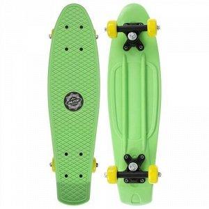 Скейтборд 56*15 см, колеса PVC 50 мм. пластиковая рама,цв. салатовый