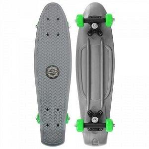 Скейтборд 56*15 см, колеса PVC 50 мм. пластиковая рама,цв. серый