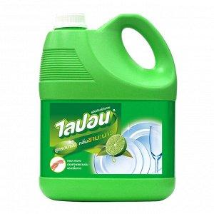 """LION """"Lipon"""" Средство для мытья посуды 3600мл (канистра)  Лимонный чай  Таиланд"""