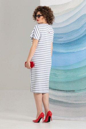 Платье Avanti Erika 972-8 белый/голубой