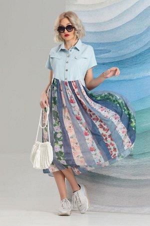 Платье Avanti Erika 1215-1 голубой
