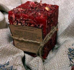 Свеча восковая Кубик с травами Любовная магия