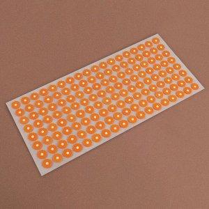 Аппликатор - коврик, 26 ? 56 см, 144 модуля, цвет оранжевый/белый