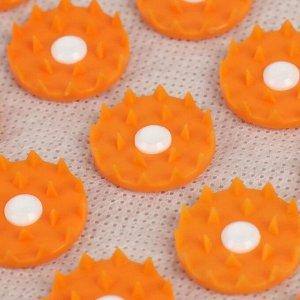 Аппликатор - коврик, 23 ? 32 см, 70 модулей, цвет оранжевый/белый