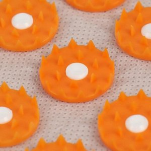 Ипликатор - валик для поясницы, мягкий, 19 ? 32 см, цвет белый/оранжевый