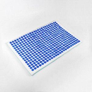Иппликатор - коврик, мягкий, 50 ? 75 см, 384 модуля, цвет белый/синий