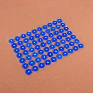Аппликатор - коврик, 23 ? 32 см, 70 модулей, цвет синий/белый