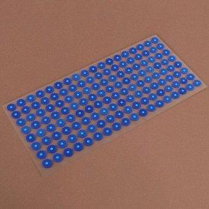 Аппликатор - коврик, 26 ? 56 см, 144 модуля, цвет синий/белый