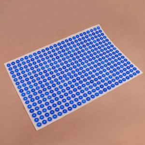 Аппликатор - коврик, 50 ? 75 см, 384 модуля, цвет синий/белый