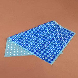 Аппликатор - коврик, 50 ? 75 см, 384 модуля, цвет синий/голубой