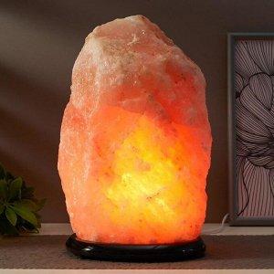 """Соляной светильник с диммером  """"Скала"""" Е14 15Вт 10-12 кг гимал. соль 21х18х27 см"""