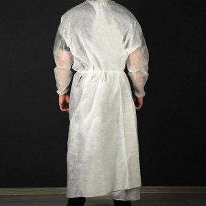Халат медицинский хирургический 140 см 25г/м2, рукав резинка