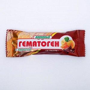 Гематоген Народный с курагой в глазури, 40 г