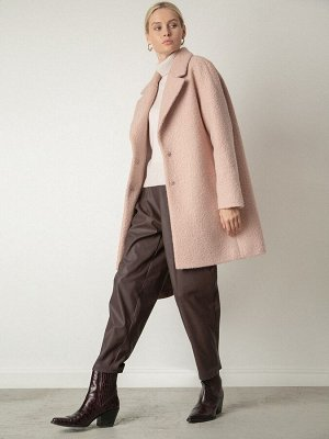 Пальто Состав ткани: Полиэстер 100% Описание модели Пальто из структурной ткани — идеальный выбор для демисезона. Буклированная ткань с фактурными завитками и фасон «бочонок» просто созданы друг для д